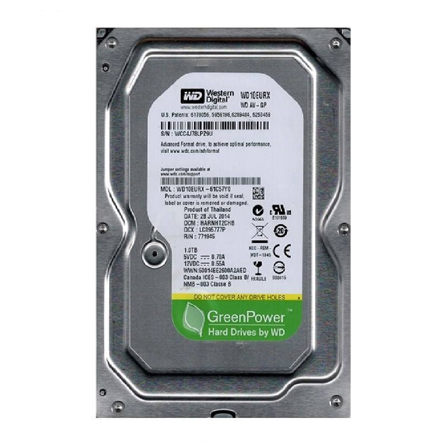 هارد Western Digital WD10EURX GreenPower 1TB Internal