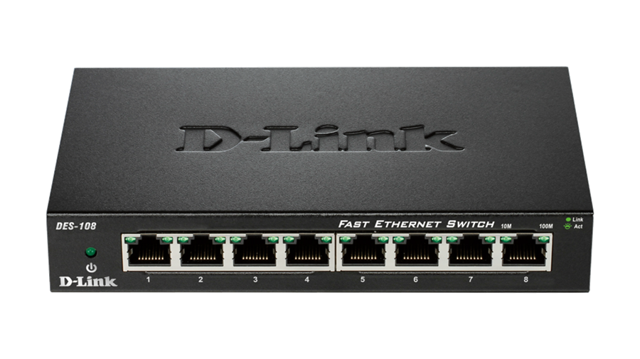 سوییچ D-Link DES-108 8-Port Fast Ethernet Unmanaged Desktop Switch